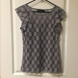 The Limited Gray Sheer Top with Seamless Cami